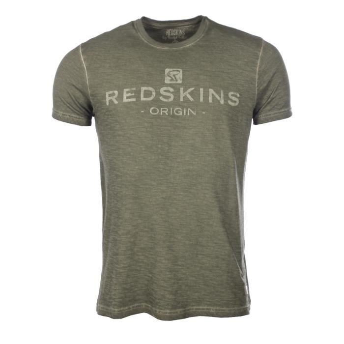 Tee shirt coton logo brodé Homme Redskins