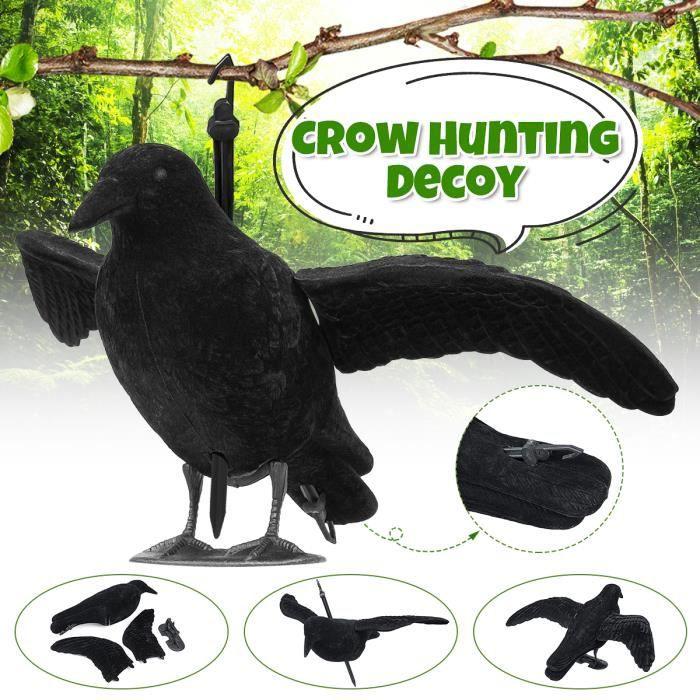App/ât de chasse de d/écoration de jardin Crow avec des ailes