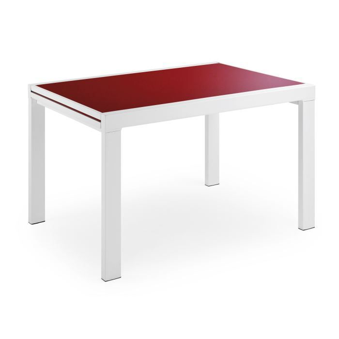 Table de cuisine avec allonges moderne odalia 8 achat vente table de cuis - Table de cuisine rouge ...