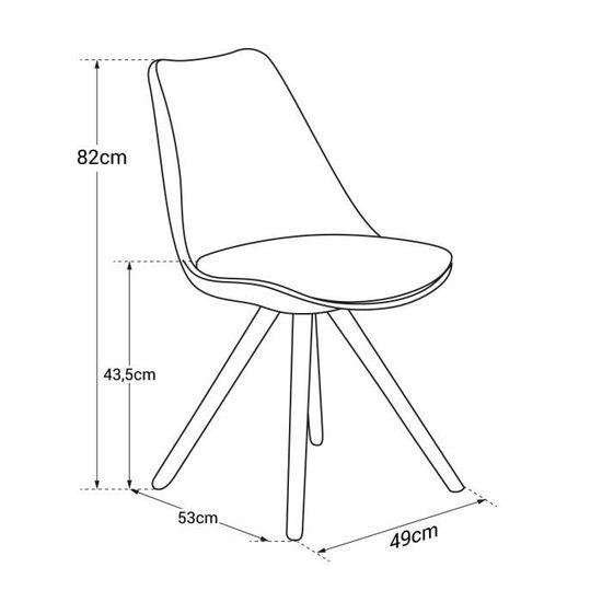 vertes chaises avec coussin de 4 scandinaves Lot DITA OPXiukZ