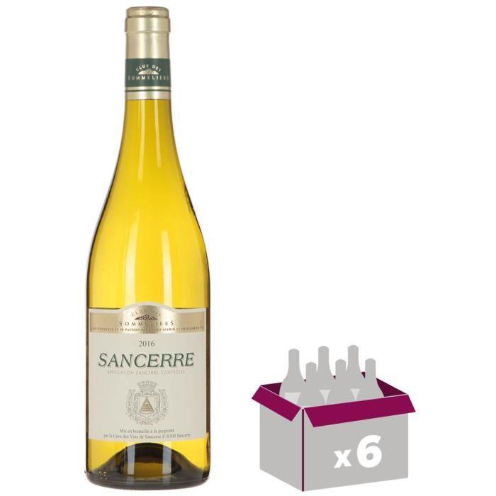 Sancerre Vin de la Loire - Blanc - Club des Sommeliers - 75 cl x6