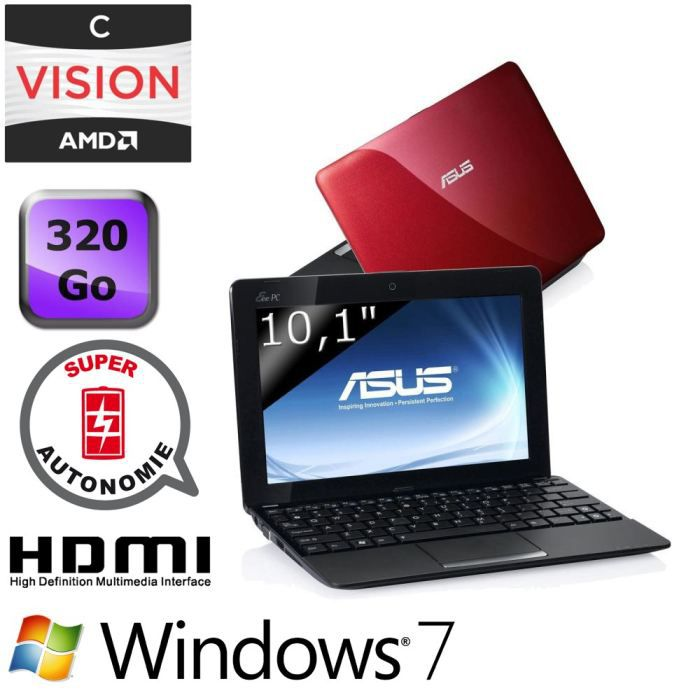 asus eee pc 1015bxred095s achat vente netbook asus eee. Black Bedroom Furniture Sets. Home Design Ideas