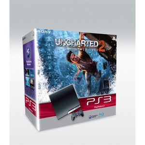 CONSOLE PS3 Pack console Sony PS3 Slim 250 Go + Uncharted 2 Am