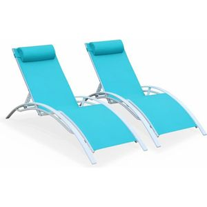 CHAISE LONGUE Louisa x2 -  / Turquoise