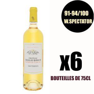 VIN BLANC X6 Château Sigalas Rabaud 2017 75 cl Sauternes 1er