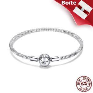 BRACELET - GOURMETTE Bracelet Femmes PANDORA STYLE S925 Argent 18cm Bij