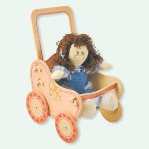 LANDAU - POUSSETTE Dida - Poussette poupée  en bois - décoration: Ros