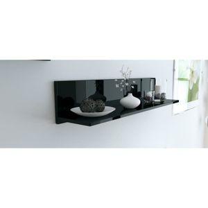 ETAGÈRE MURALE Etagère laquée noir 97,5 cm