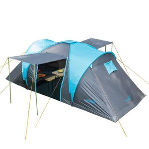 Skandika HAMMERFEST 4 - Tente de camping familiale - 4 personnes - 500x220cm - Bleu foncé