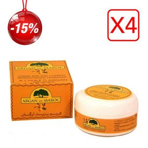 ANTI-ÂGE - ANTI-RIDE 4 Crèmes Argan du Maroc Soin Contour des yeux et V