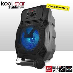 ENCEINTE ET RETOUR Enceinte batterie karaoké - LEDs - 300W - 6,5