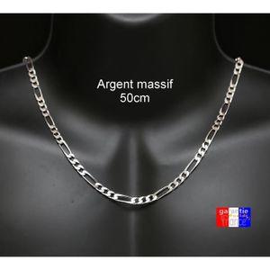 CHAINE DE COU SEULE Collier pour homme 5mm. Chaine en argent 925 massi