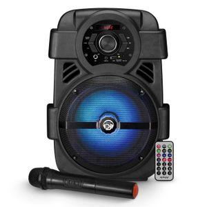 ENCEINTE ET RETOUR Enceinte autonome sur batterie MyDj SONIC08 à LED