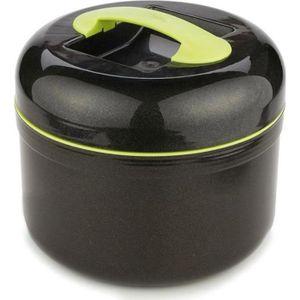 LUNCH BOX - BENTO  Boite repas isotherme - Noir et vert - Grande lunc