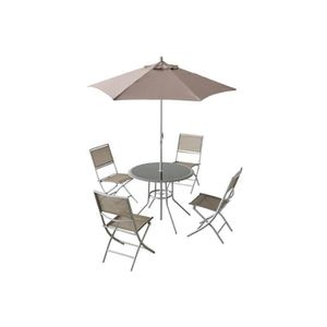 Ensemble table chaise parasol achat vente ensemble - Table de jardin avec parasol ...