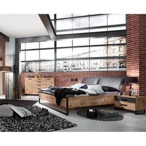 FUTON Lit futon adulte avec tete de lit rembourré et 2 c