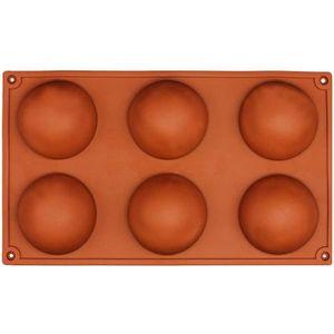 SORBETIÈRE MANUELLE 6 petit demi-spheres moule en silicone, Plat a fou