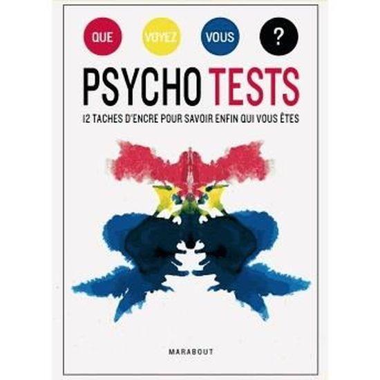 Psycho tests, 12 taches dencre pour savoir enfin