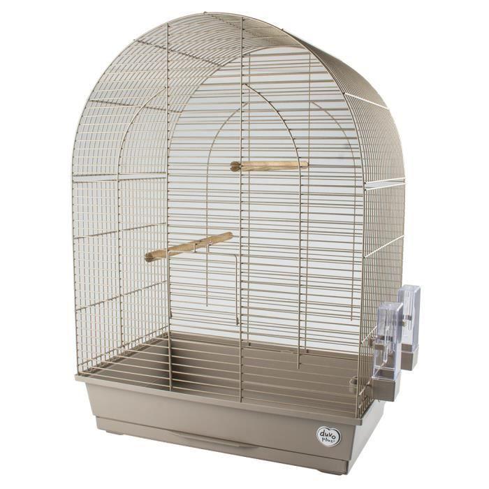 LAROY DUVO Cage pour oiseaux Mocha Lusi 3 - 54 x 34 x 75 cm - Moka