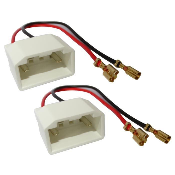 Aerzetix: 2 connecteurs adaptateurs paire de haut-parleurs enceintes pour Ford Fiesta S-Max