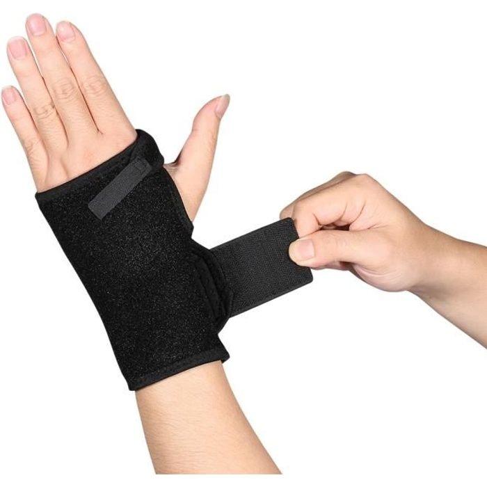 Orthèse de poignet élastique Idéale pour les entorses et foulures Attelle Réglable
