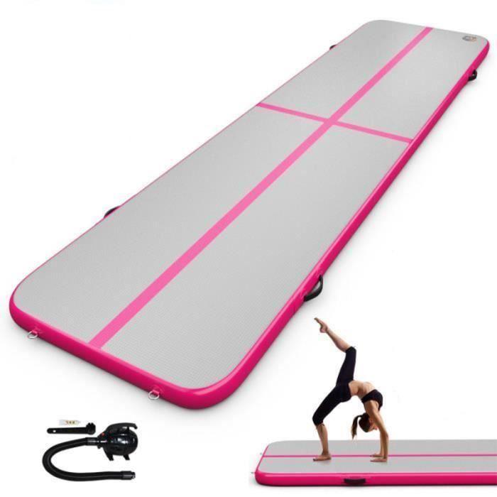 3M matelas de gymnastique gonflable Gym dégringolade Air piste plancher culbutant Air piste tapis Rose