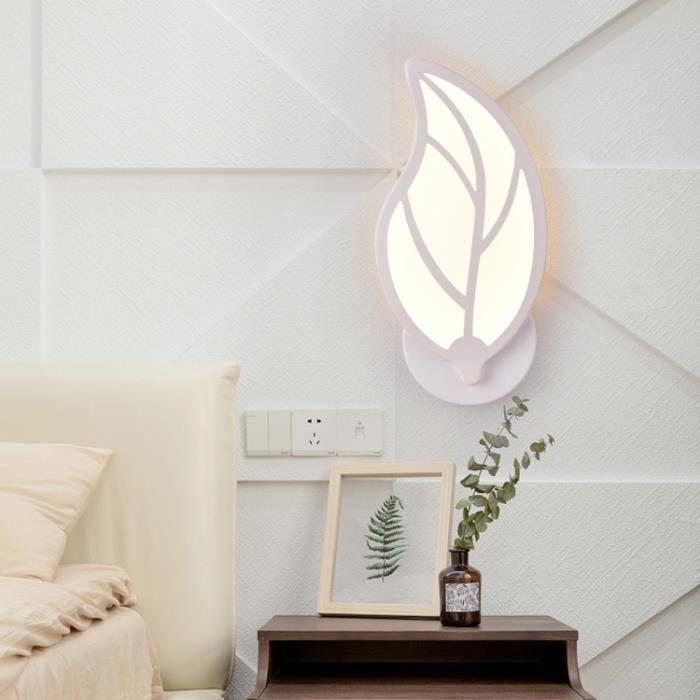 Applique murale simple personnalité forme de feuille LED lampe créative décorative E27