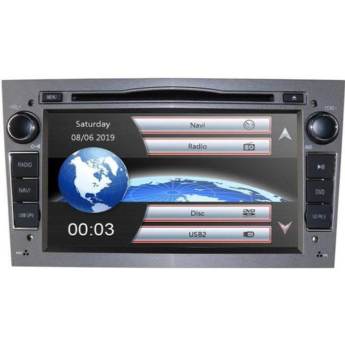 Hizpo Autoradio Audio stéréo Double DIN pour Opel Corsa Vectra Astra, Commande au Volant GPS Navigation Lecteur DVD Bluetooth Aut