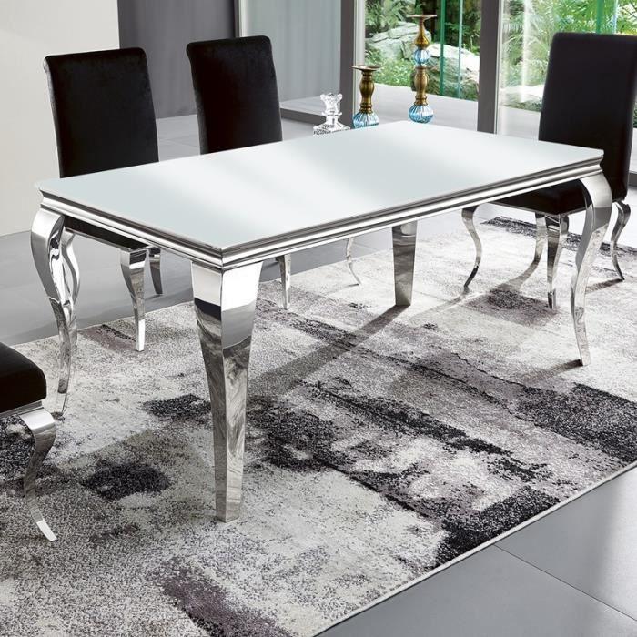 Table à manger design EMA - Blanc