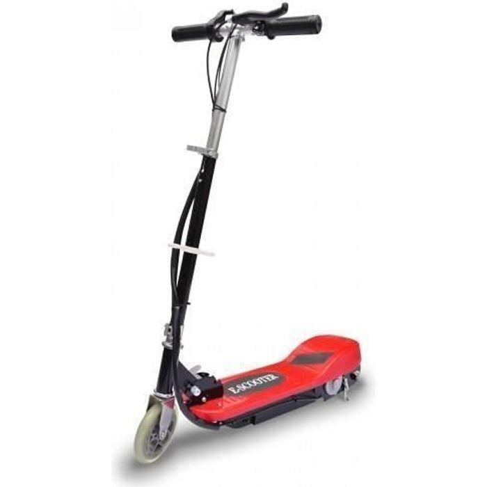 Trottinette électrique Enfant 5,5- - 12 km/h - 120 W - Scooter rouge et noir