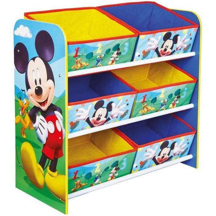 Mickey Mouse et ses amis - Meuble de rangement pour chambre d'enfant avec 6 bacs