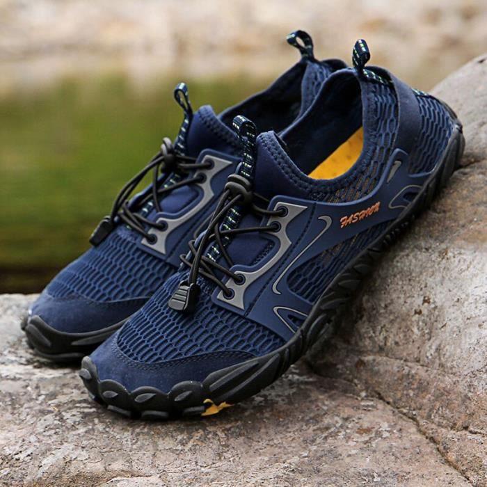 blue 41 -Vanmie – chaussures d'eau pour hommes, baskets de plage, pieds nus, de natation, grande taille 39 46, été, 2020