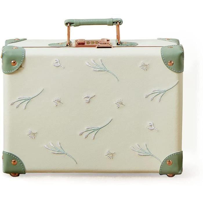 VALISE OU BAGAGE VENDU SEUL Vintage Bagages Cabine sans Roues avec Serrure à Combinaison Ensemble Valises Voyage avec Ban40