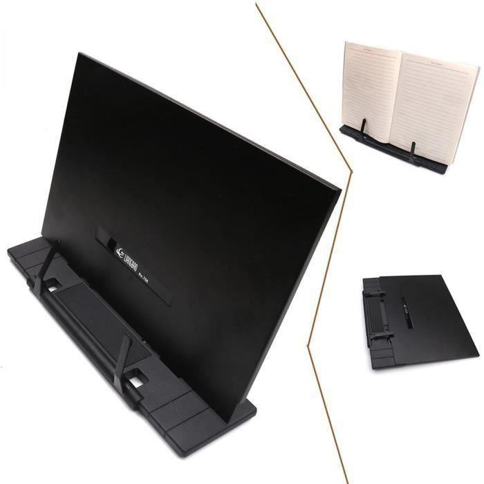 pliable Pupitre en métal portable multifonctionnel porte-livre de cuisine tablette lecture support de document