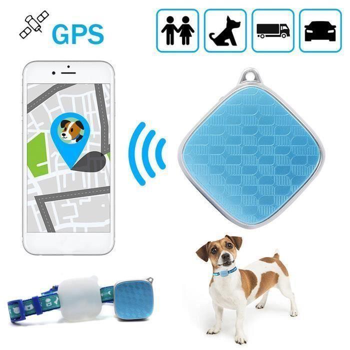 Mini GPS Traqueur Chien-Chat Collier - Étanche Localisateur - Temps Réél Suivi-Pistage D'animale Sh00072