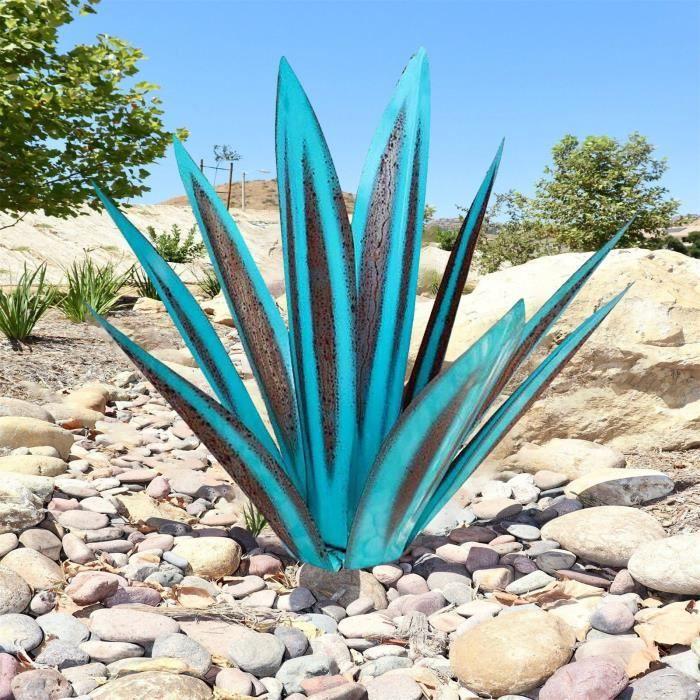 Objet Decoratif 11 -Metal Art Tequila Sculpture Rustique Jardin Yard Décor À La Maison 9 Feuilles LY883
