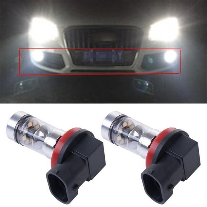 Ampoules de feux antibrouillard de conduite DRL, pour Audi A3 A4 A5 A6 Q3 Q5 Q7 S4 S5 S6 2 -H8 H9 H11