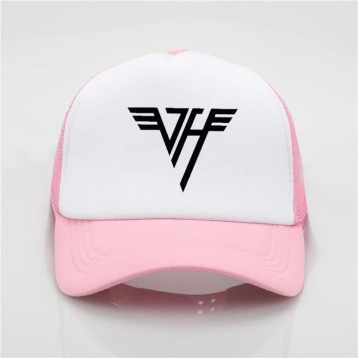 Van Halen casquette de baseball étudiant couples casquettes Van Halen LOGO maille casquette mode sol Rose