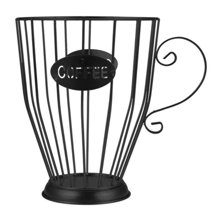 Capsule de café Universel Panier De Rangement Café Tasse Panier Vintage Café Pod Support Organisateur Noir Pour La Maison D'hôtel d