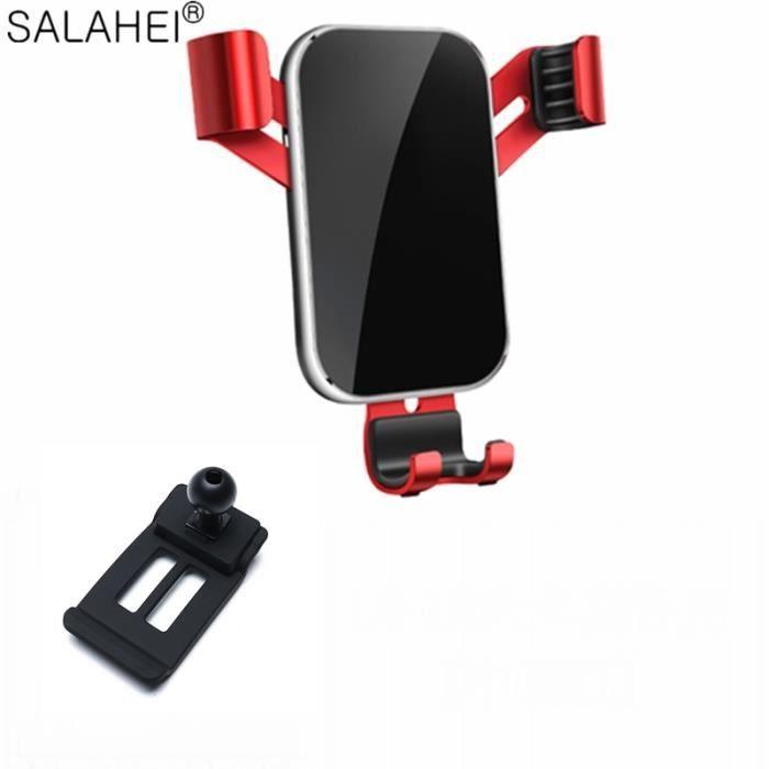 Supports voiture,Support De Téléphone Portable Pour Voiture Supports Support GPS Gravité Navigation POUR Audi Q5 2010 - Type red