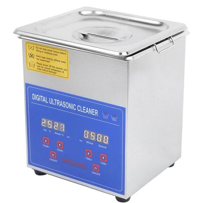 Drfeify Nettoyeur numérique 2L, Minuterie pour appareil de chauffage de son ultra numérique à ultrasons en acier inoxyda HB051 -BOT