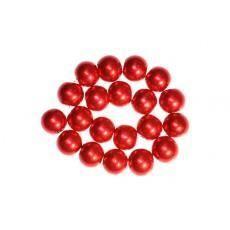 100 x Perle en Verre Nacrée 6mm Rouge Vif