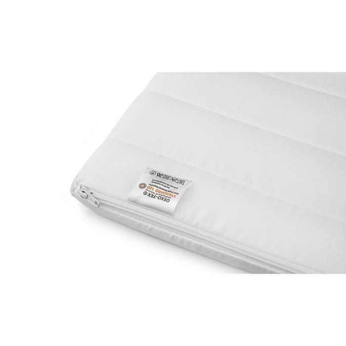 Surmatelas 120x190 cm mousse confort housse microfibre surmatelas ferme et moelleux pour un sommeil réparateur épaisseur 5 cm
