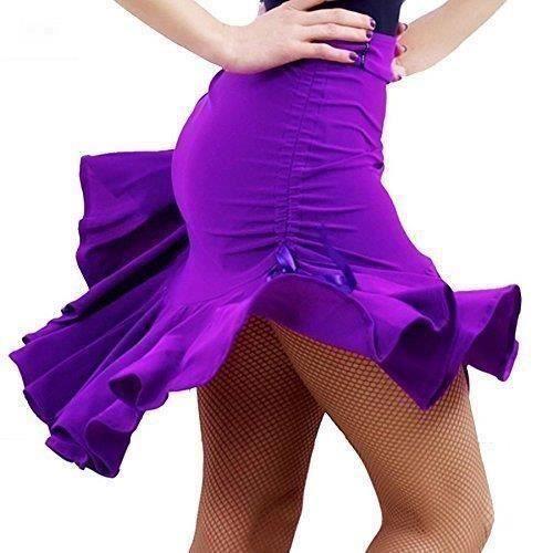 Zencart Salle De Bal Tango Rumba Cha Cha Latine Salsa Danse Dress Jupe Carré De Danse Pourpre Noir Hip Hop Vêtements Femmes Latine