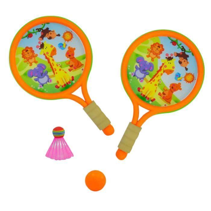 1 ensemble intéressant durable enfants jouer jeu jouet en sport jouets badminton tennis raquettes balles intérieur