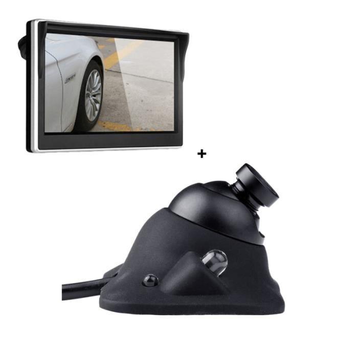Caméra de recul de voiture grand Angle rotatif LED lumière à induction Vision nocturne capteur RADAR DE RECUL - CAMERA DE RECUL