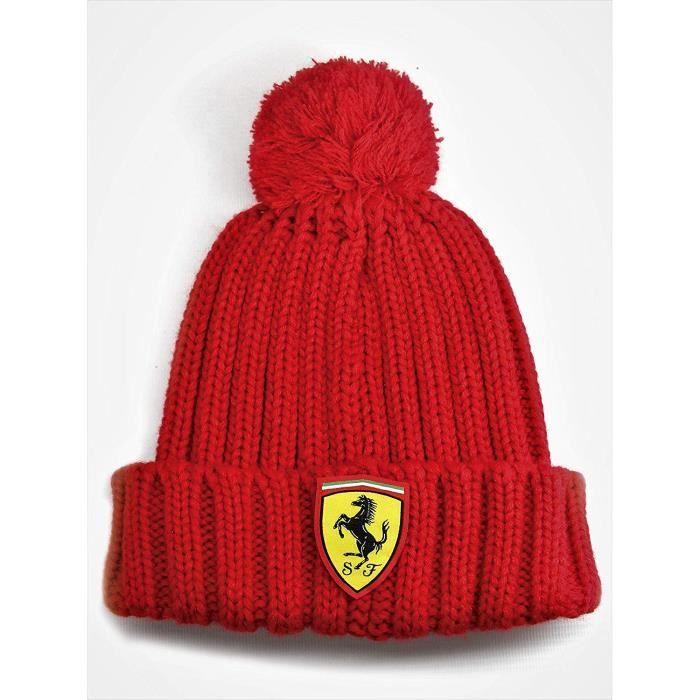 Bonnet Ferrari Scuderia F1 Team Grosse Laine Enfant