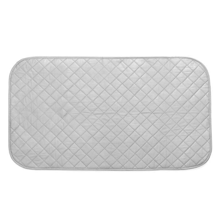 TEMPSA Nappe de Repassage - 48x85CM - En Coton Tissu - Repasser Épaisse Pliable Gris