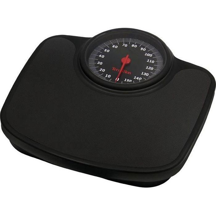 Pèse personne mécanique Tneo 150kg 1kg grand ecran noir