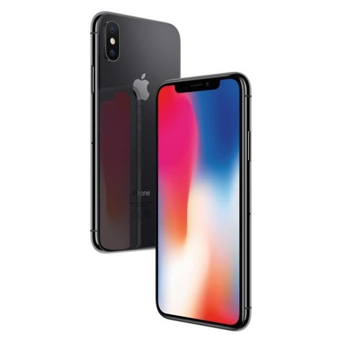 SMARTPHONE APPLE iPhone X gris sidéral 64Go